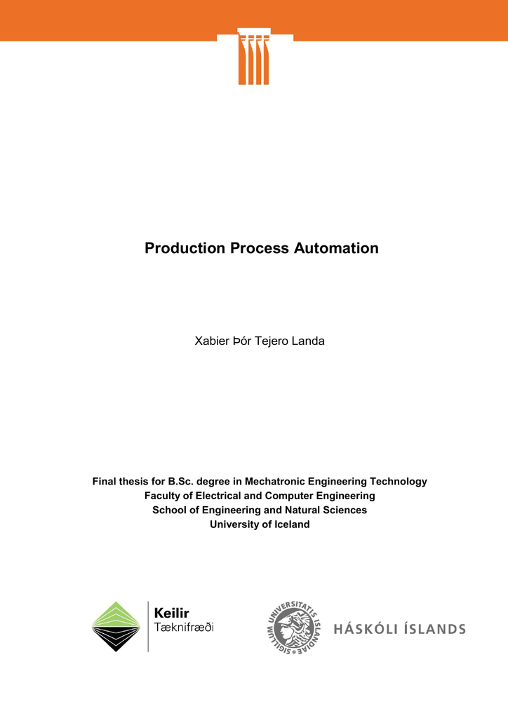 Production Process Automation