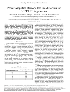 Power Amplifier Memory-less Pre-distortion for3GPP