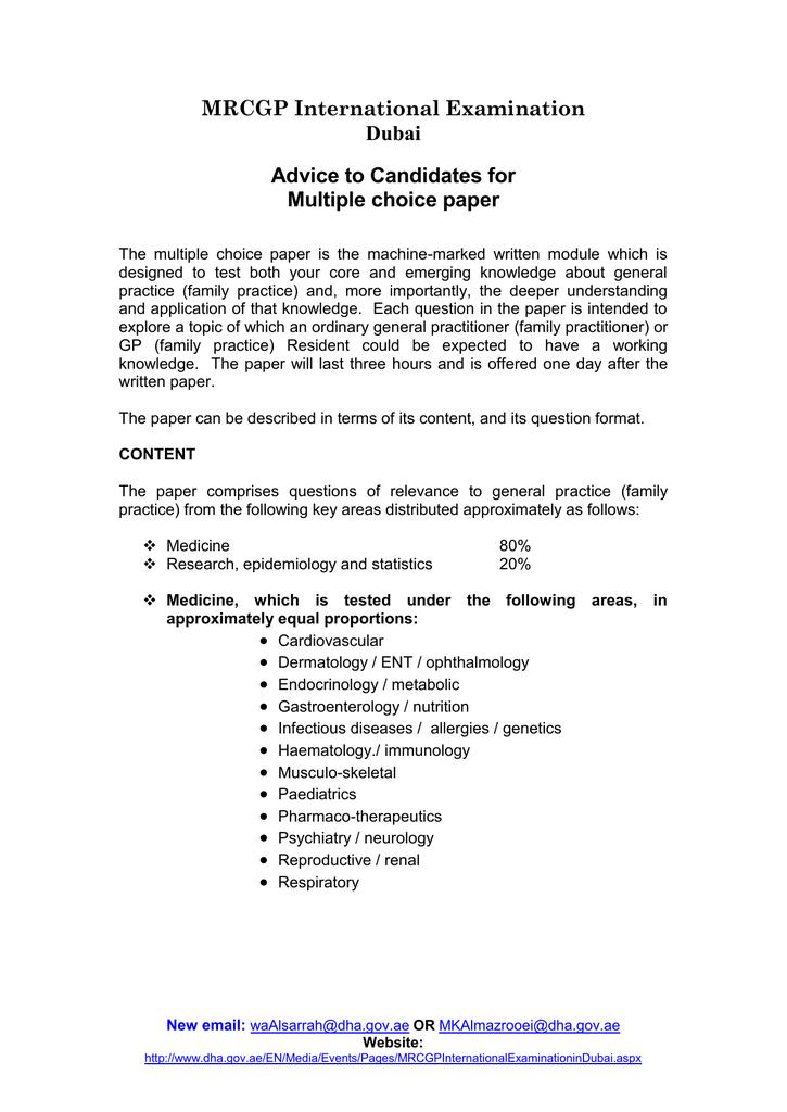MRCGP International Examination