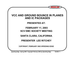 vcc and ground bounce in planes and ic packages