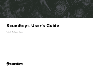 Soundtoys User`s Guide