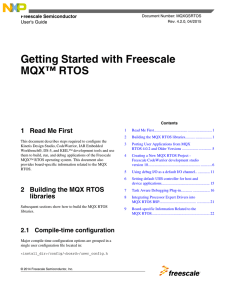 Getting Started with Freescale MQX RTOS - User`s Guide
