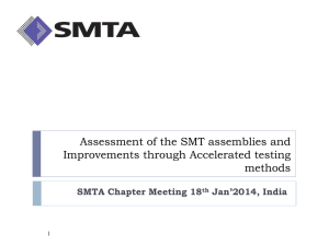 Assessment of the SMT assemblies and Improvements through