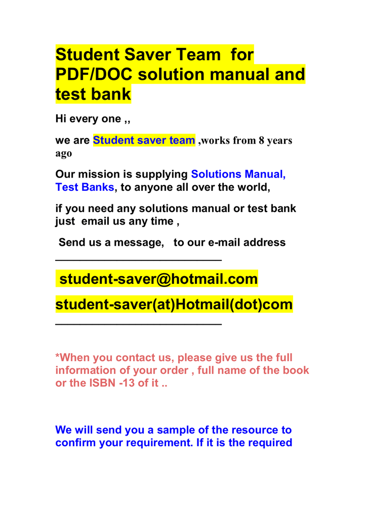 Test banks and solution manual 2017 2018 fandeluxe Image collections
