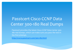 Passtcert Cisco CCNP Data Center 300-180 Real Dumps