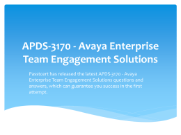 APDS-3170-Avaya Enterprise Team Engagement Solutions