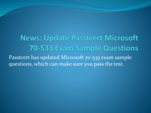 News Update Passtcert Microsoft 70-533 Exam Sample Questions