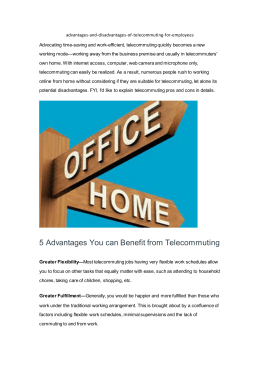 advantages-and-disadvantages-of-telecommuting-for-employees