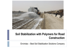 Polymer-based Soil Stabilization Solutions for Different Industries